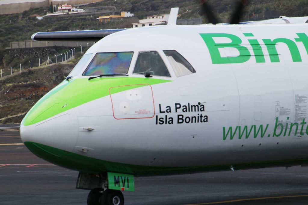 Con este gesto, Binter le hace un guiño a La Palma