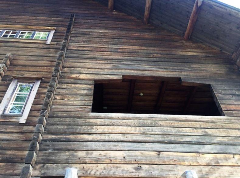 Balcón de una de las habitaciones de las hijas de Pekka Halonen