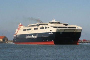 """Este es el aspecto exterior del catamarán """"Betancuria Express"""""""