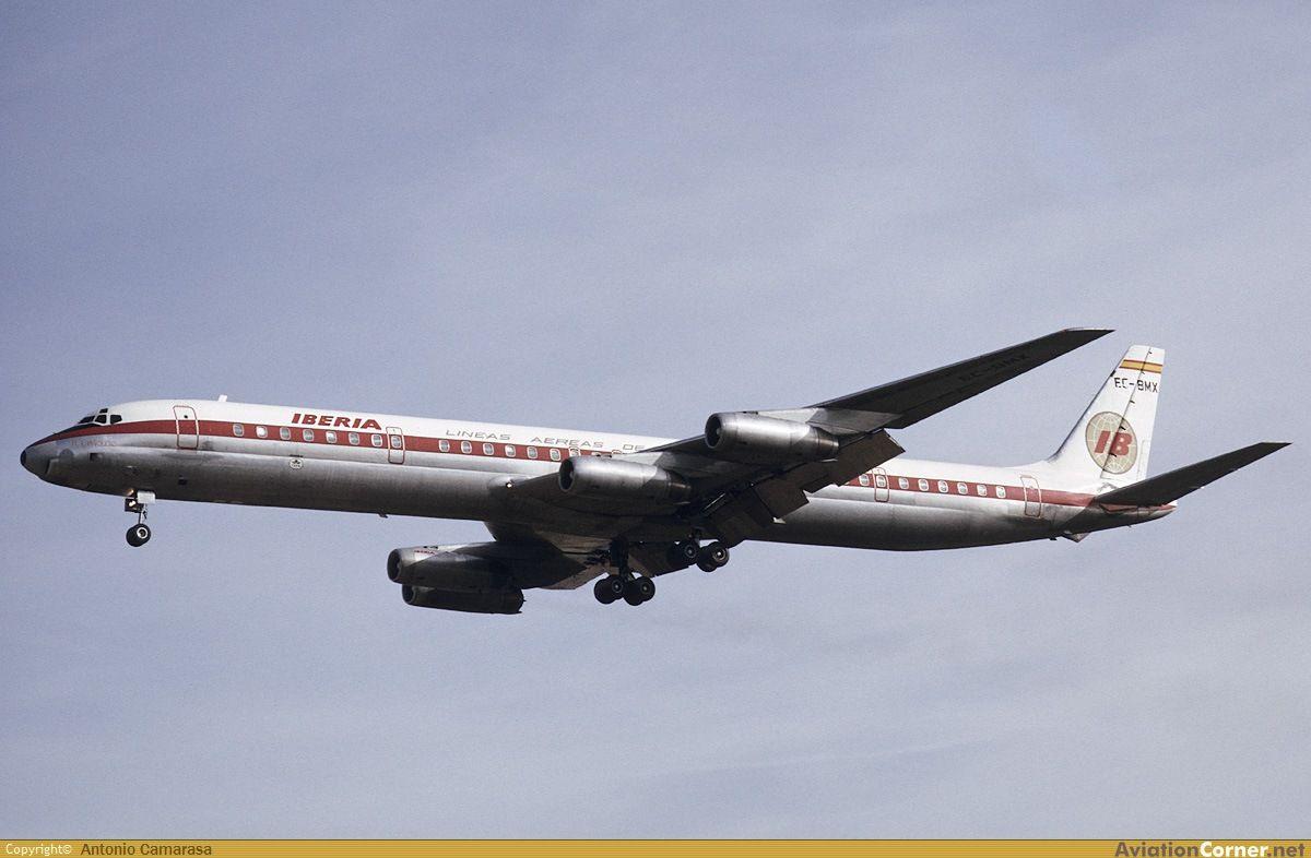 El avión Douglas DC-8/63 fue entregado a Iberia en 1968