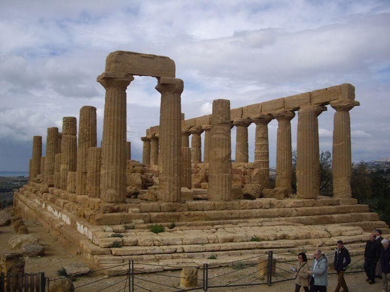 Agrigento. Panorámica del templo de Hera