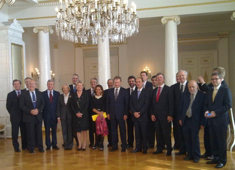 Audiencia del presidente de la República de Finlandia a los cónsules en España y Portugal (junio 2012)