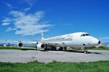 """El avión Convair CV 990A """"Coronado"""" de Spantax, en su estado actual"""
