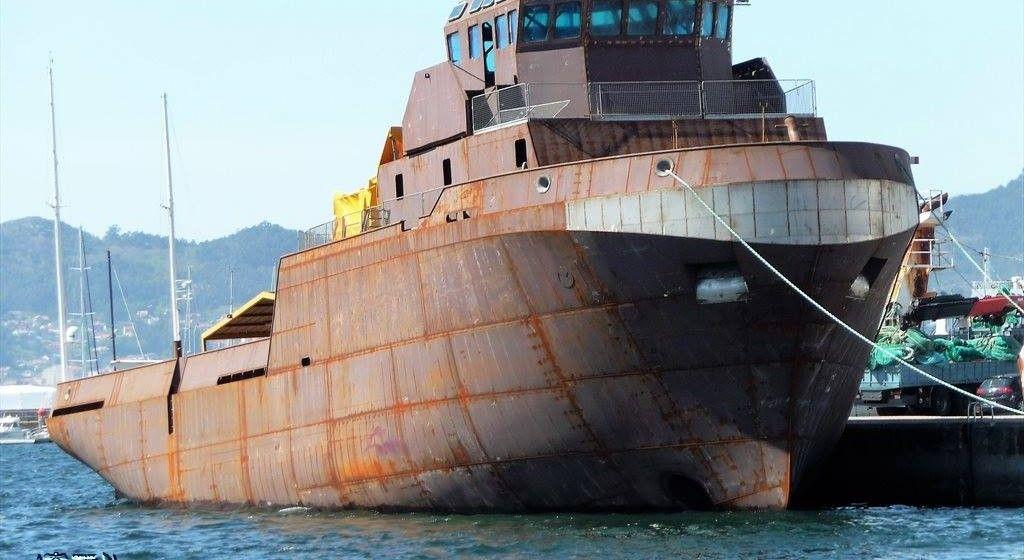 Este es el buque para Senegal, tras su botadura en Astilleros Cardama