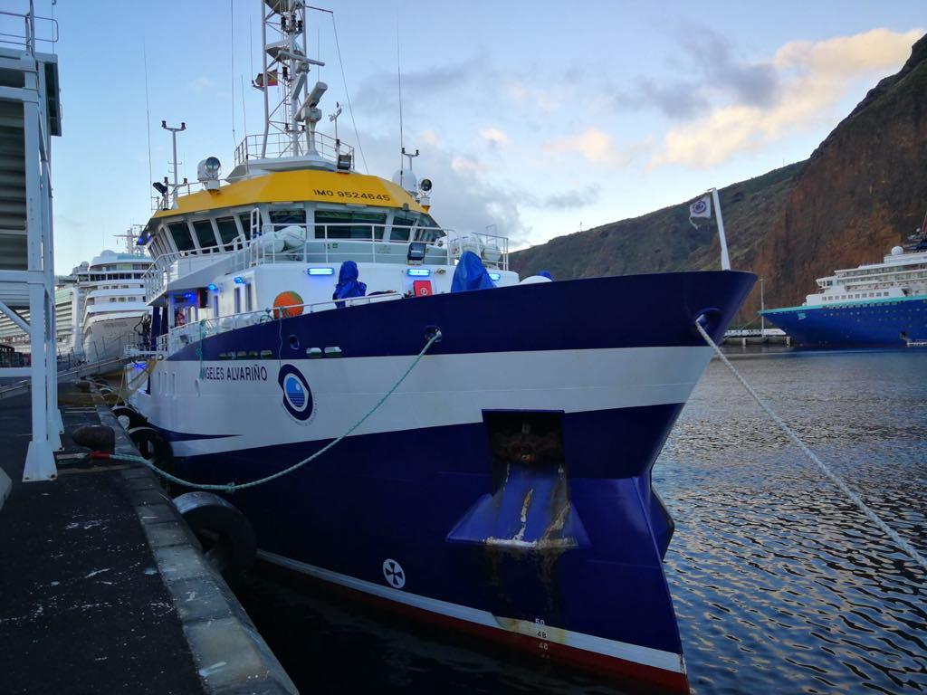 """El buque oceanográfico """"Ángeles Alvariño"""" realiza estudios de aguas en el sur de La Palma"""