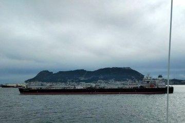 """El petrolero """"Monte Udala"""", a su llegada a la bahía de Algeciras"""