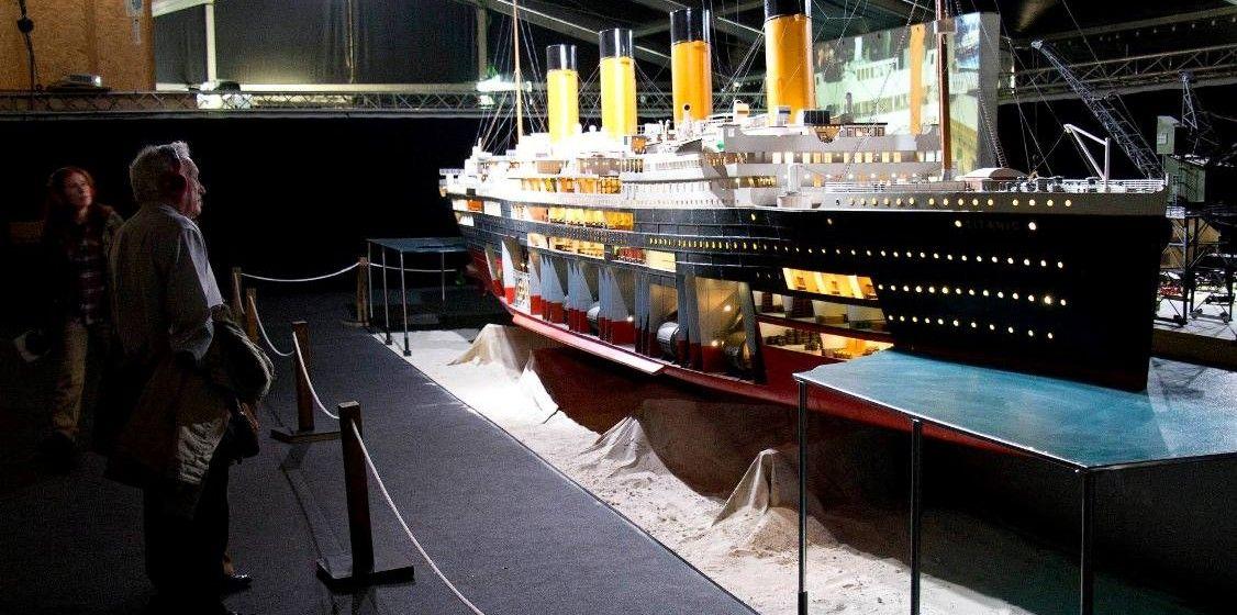 """La gigantesca maqueta del """"Titanic"""" ofrece todo lujo de detalles"""