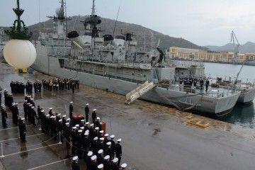 La ceremonia de despedida se celebró en el Arsenal de Cartagena