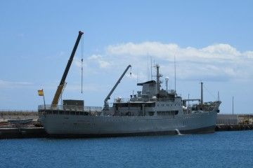 Con 65 años de vida marinera, el veterano buque sigue en servicio