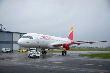 El primer A320neo ya está pintado con la librea de Iberia