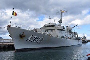 """El buque de guerra belga """"Godetia"""", de nuevo en Tenerife"""