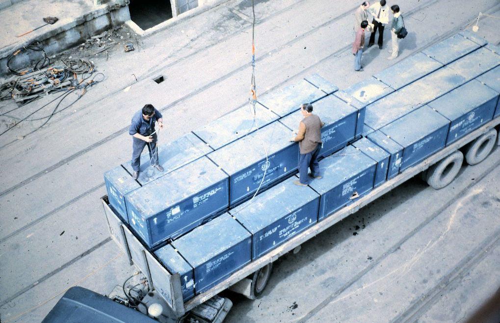 """El material radiactivo, en un trailer al costado del """"Galeona"""""""