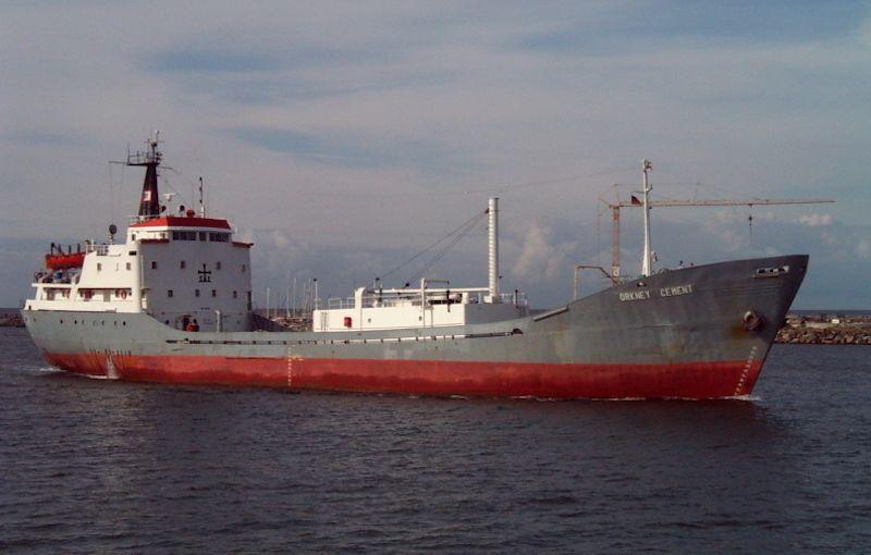 """El buque """"Fraguador"""", en su etapa como """"Orkney Cement"""""""