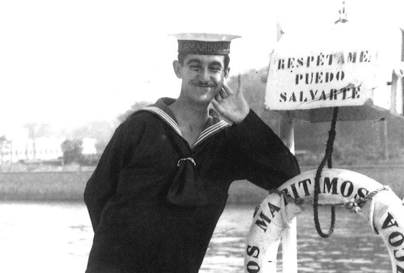 """Juan Alvargonzález, marinero del submarino """"General Mola"""" (1937-1938)"""