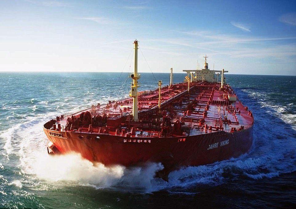 """El petrolero mayor del mundo, en su etapa como """"Seawise Giant"""""""
