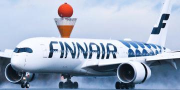 El undécimo A350 de Finnair, a su llegada a Helsinki-Vantaa, fotografiado por Aapo Kyöstiö