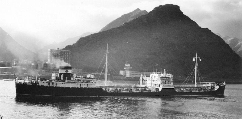 """El petrolero """"Campeón"""", en el que José Ramón Muñoz de Bustillo estrenó su vida marinera"""