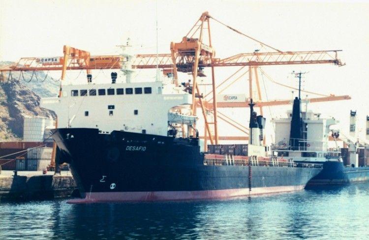 """El buque """"Desafío"""", atracado en el puerto de Santa Cruz de Tenerife"""