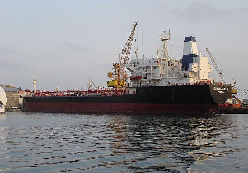"""El buque """"Guadalupe B"""", ex """"Camponubla"""", en el puerto de Barcelona"""