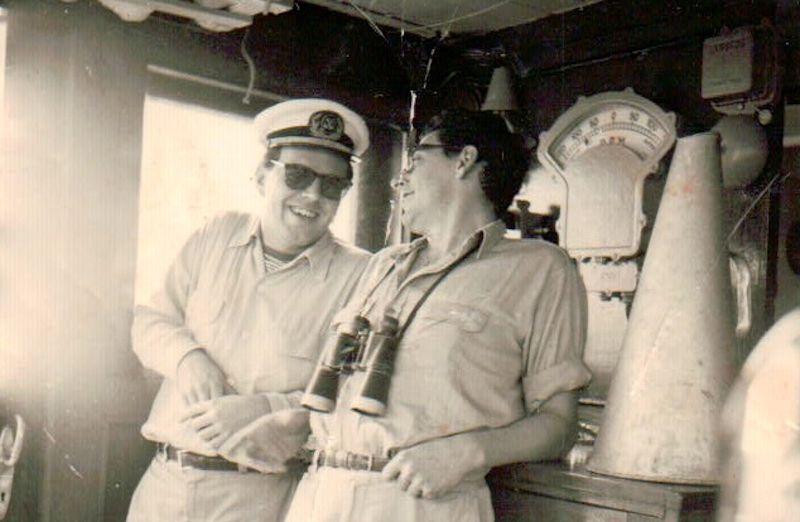 """Derrochando humor en una guardia en el puente del petrolero """"Arapiles"""""""