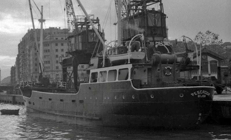 """El buque """"Pescador"""" inauguró la recién creada Naviera Alvargonzález"""
