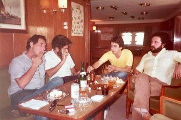 De izquierda a derecha: Antonio Churruca Martínez, Manuel Garrocho Martín, Antonio Bermejo Díaz y Francisco Noguerol Cajén