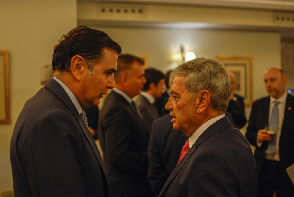 Alejandro Azzar, presidente de Ibaizábal y de ANAVE y Antonio Armas Fernández