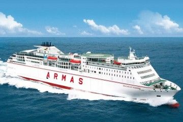 """El buque """"Volcán de Tinamar"""", en sus pruebas de mar en 2011"""
