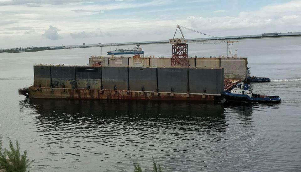 Este era el segundo trozo del dique, antes de su desaparición