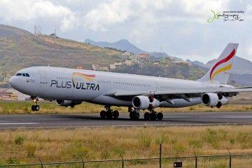 El primer vuelo de Plus Ultra procedente de Venezuela aterriza en Tenerife Norte