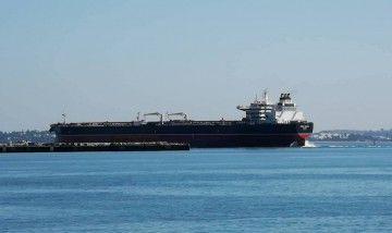 """El petrolero """"Monte Urbasa"""", en una de las salidas a pruebas de mar"""