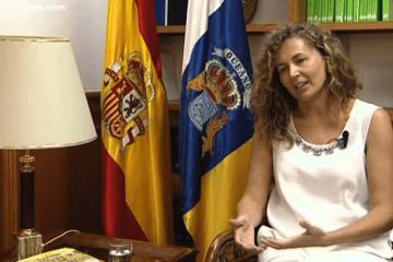 Ornella Chacón , en su etapa como consejera de Obras Públicas y Transportes del Gobierno de Canarias