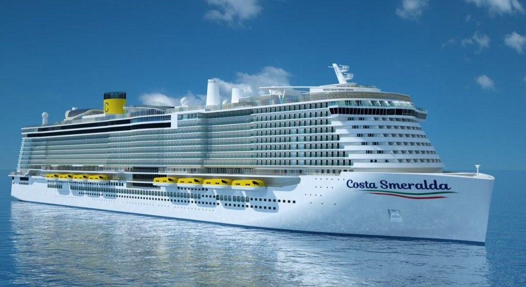 """Esta será el aspecto exterior del buque """"Costa Smeralda"""""""