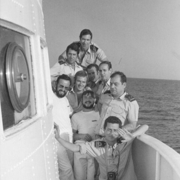 """La foto está tomada a bordo del buque hidrográfico """"Cástor"""" (A-21)"""