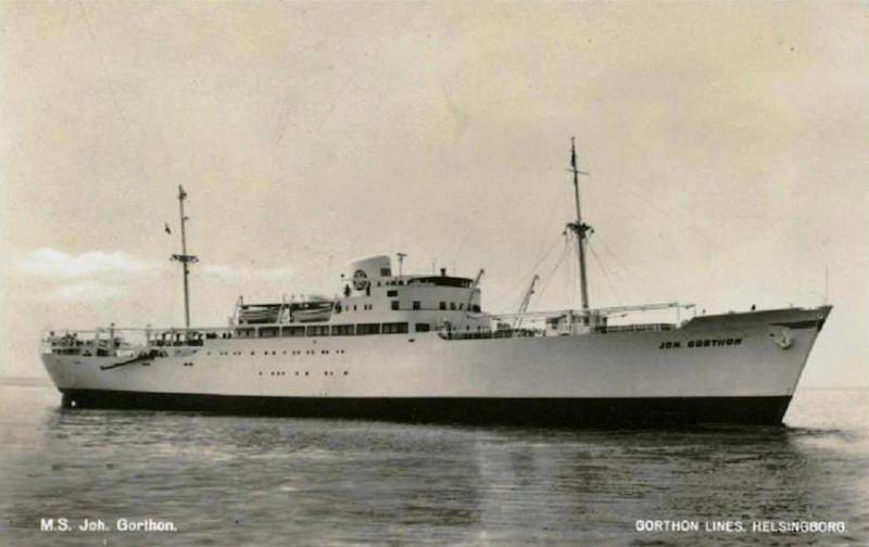 "Estampa marinera del buque sueco ""Joh. Gorthon"" [Gorthon Lines]"