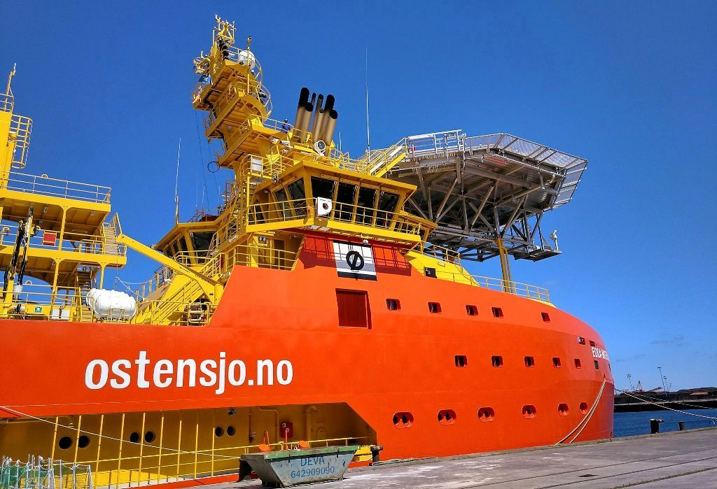 "Detalle de la superestructura del buque ""Edda Mistral"""