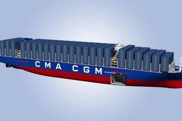 Este será el aspecto exterior de los nuevos  ULCV de 22.500 TEUS de CMA CGM