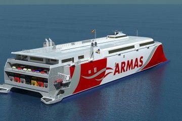 El nuevo catamarán de Naviera Armas llegará en abril de 2019