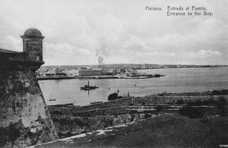 Entrada al puerto de la ciudad de La Habana
