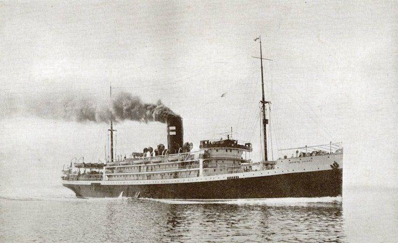 """Trasatlántico """"Infanta Isabel"""", de la flota de Pinillos, Izquierdo y Cía."""