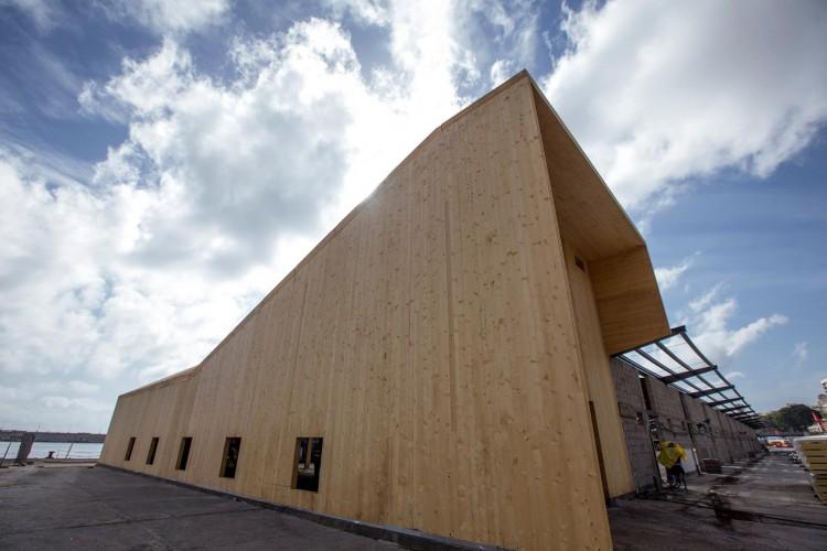 La nueva estación de cruceros del puerto de Santa Cruz de Tenerife va tomando forma