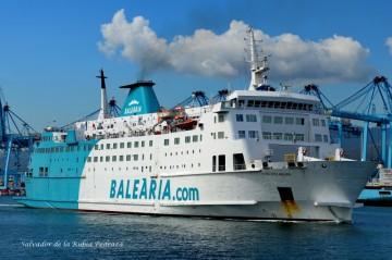 "Estampa marinera del ferry ""Poeta López Anglada"""