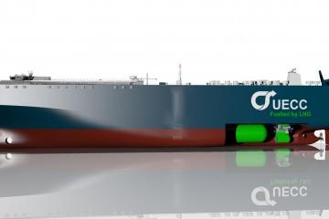 Este será el aspecto exterior de los nuevos buques de UECC