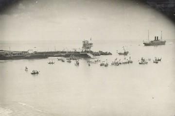 Recibimiento a Alfonso XIII en el puerto de Santa Cruz de La Palma