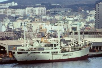 """El buque """"Duero"""" (2º), atracado en el puerto de Las Palmas de Gran Canaria"""