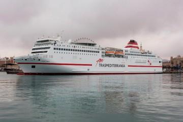 """El ferry """"Fortuny"""" es el primero en lucir la imagen del Centenario de Trasmediterránea"""