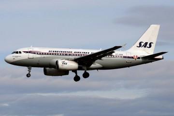 Imagen retro de SAS en este avión Airbus A-319