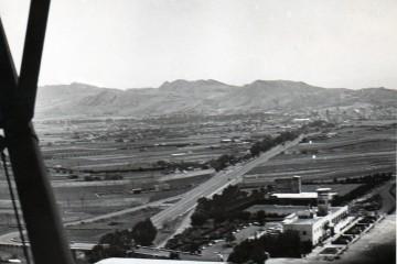 Panorámica de la primera terminal del aeropuerto de Los Rodeos (1959)