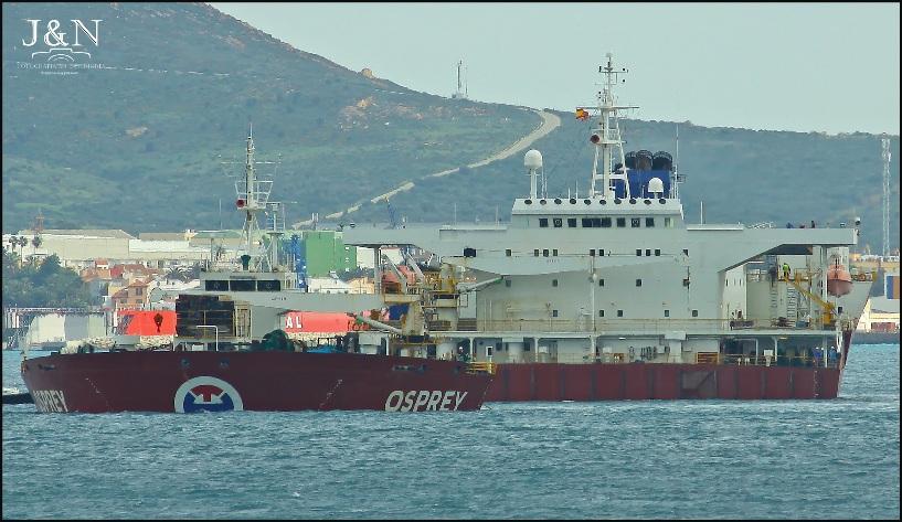 """El buque transporte """"Osprey"""" es el antiguo petrolero español """"Borja Tapias"""""""