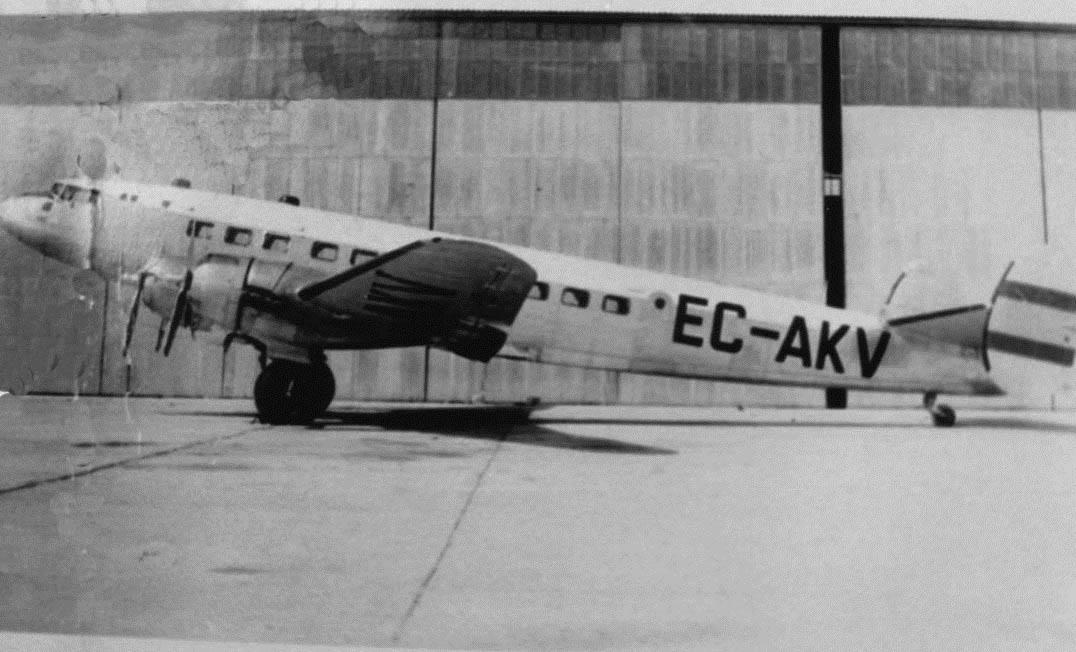 Bloch Languedoc de AVIACO, matrícula EC-AKV